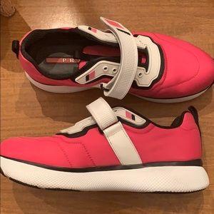 Pink Prada tennis shoes
